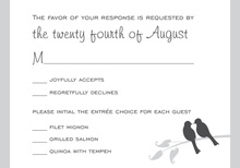 Grey Lovely Birds RSVP Cards