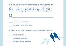 Blue Lovely Birds RSVP Cards