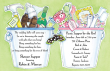 Buckets Of Couple Gifts Bridal Shower Invitations