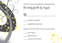 Night Swirl Black RSVP Cards