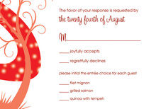 Night Swirl Red RSVP Cards