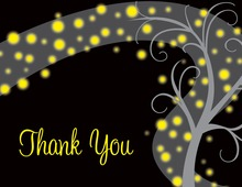 Night Swirl Black Thank You Cards