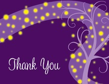 Night Swirl Purple Thank You Cards