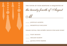 Retro Chandelier Orange RSVP Cards