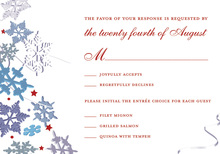 Red Winter Snowflakes RSVP Cards