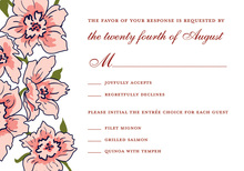 Floral Soire Red RSVP Cards