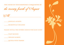 Subtle Orange Bouquet RSVP Cards