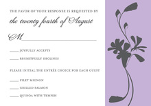 Subtle Lavender Bouquet RSVP Cards