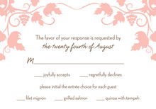 Grape Vine Pink RSVP Cards