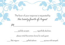 Grape Vine Blue RSVP Cards