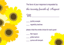 Modern Yellow Floral RSVP Cards