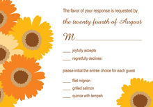 Exquisite Orange Floral RSVP Cards