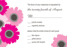 Beauty Hot Pink Floral RSVP Cards
