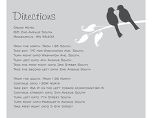 Modern Grey Lovely Birds Enclosure Cards
