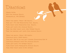 Fresh Orange Lovely Birds Enclosure Cards