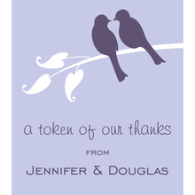 Lilac Lovely Wedding Birds Stickers
