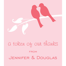 Lovely Pink Wedding Birds Stickers