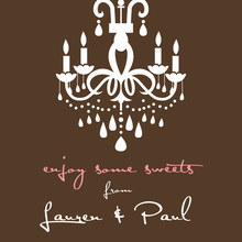 White Chandelier Silhouette Brown Stickers