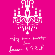 White Chandelier Silhouette Pink Stickers