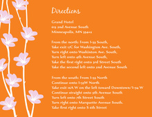 Floral String Fresh Orange Enclosure Cards
