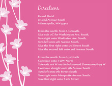 Floral String Subtle Pink Enclosure Cards