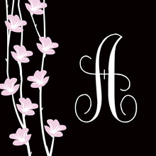 Floral String Elegant Black Stickers
