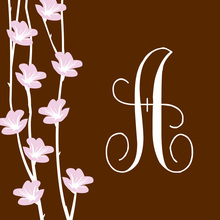 Floral String Formal Chocolate Stickers