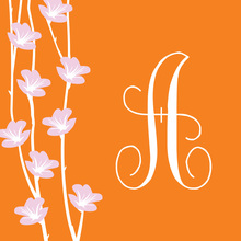 Beautiful Floral String Orange Stickers