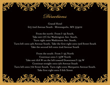 Gold Damask Modern Black Enclosure Cards
