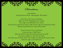 Damask Modern Green Enclosure Cards