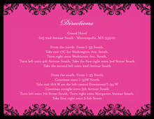 Lovely Damask Hot Pink Enclosure Cards