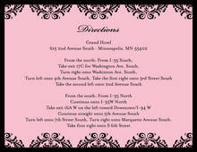 Damask Wedding Pink Enclosure Cards