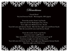 White Damask over Black Enclosure Cards
