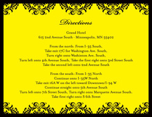 Exquisite Damask Yellow Enclosure Cards