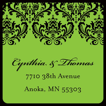 Formal Damask Green Stickers