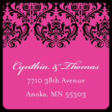 Special Damask Hot Pink Stickers