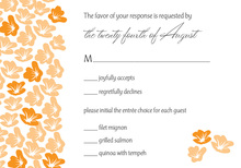 Heart In Bloom Orange RSVP Cards