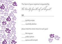 Heart In Bloom Purple RSVP Cards
