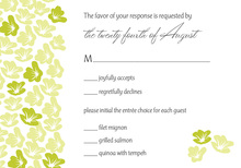 Heart In Bloom Lime RSVP Cards