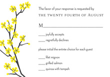Classic Yellow Blossom RSVP Cards