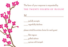 Classic Cherry Blossom Lime RSVP Cards