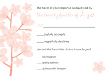 Peach Poisies Brown RSVP Cards