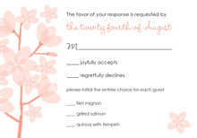Peach Poisies Pink RSVP Cards