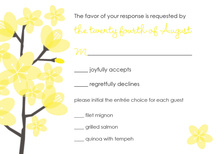 Modern Yellow Poisies RSVP Cards