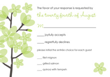 Modern Yellow Green RSVP Cards