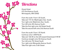 Classic Cherry Blossom White Enclosure Cards