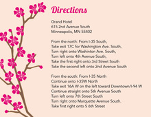 Classic Cherry Blossom Pink Enclosure Cards