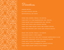 Dove Design Orange Enclosure Cards