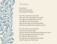 Vintage Blue Flourish Enclosure Cards