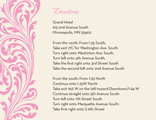 Vintage Pink Flourish Enclosure Cards